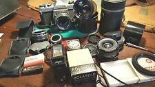 Pentax K1000 Complete Kit 1.2 55mm Vintage Case 35mm SLR Much More - 35mm SLR