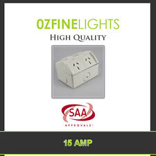 15 AMP IP53 Double Weatherproof  GPO Power Point  Socket SAA APPROVED