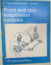 Ford Parts & Service CTP 1977-1 Front & Rear Suspension Systems Manual