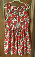 Anthropologie Sunday In Brooklyn Dress L Large Floral Back Zipper Lovely