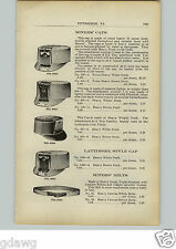 1910 PAPER AD Coal Mine Miners' Belt Hat Cap Lattimore Duck Overall Pants