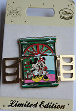 DISNEY STORE MINNIE MICKEY MOUSE CHRISTMAS HINGED WINDOW LIMITED EDITION 800 PIN
