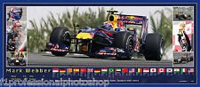 Mark Webber 82cmx36mm commemorative panoramic photo collage Ltd edition of 215