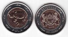 BOTSWANA – NEW ISSUE 2 PULA BIMETAL COIN 2013 YEAR RHINO