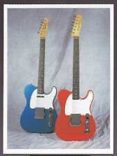 FENDER TELECASTER AND ESQUIRE (1965) GUITAR POSTCARD