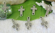 60pcs Tibetan silver cross connectors links FC9357