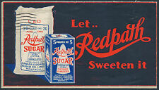 1933 Redpath Sugar Advertising, Montreal Wholesale Grocer Corner Card