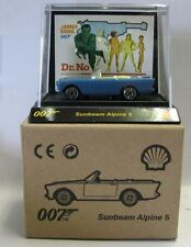 Tic Toc Shell Model Car metal James Bond 007 Dr. No Sunbeam Alpine 5 blue