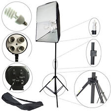 DynaSun ES470KIT 50x70cm 4in1 E27 Studio Kit Softbox mit 4 Tageslichtlampe Blitz