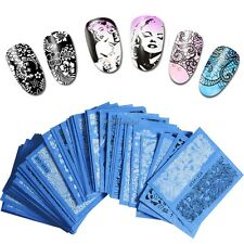 Nail Art Water Transfer Wraps Stickers Polish Foil Decal Tips Colorful DIY Decor