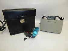 Vintage Polaroid Land 210 Camera w/ Leather Case & 268 Flash Retro