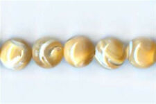 8mm Natural Mother of Pearl Round Beads (10)