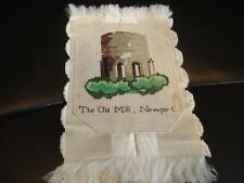 Victorian Souvenir Whimsy-The Old Mill-Newport RI- Embroidery/Berlin Work-SALE