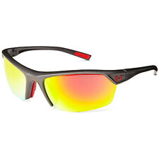 Under Armour UA Zone 2.0 Sunglasses Satin Carbon Grey Frame Orange Mirror Lens