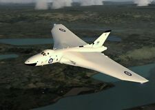 Avro Vulcan Jet-Powered Delta Wing Strategic Bomber Plane Wood Model Small New