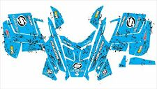 POLARIS RUSH PRO RMK ASSAULT 120 144 155 163 hood wrap kit DECAL splatter blue 6