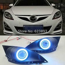 2x LED DRL Fog lights+Angel Eyes For Mazda 6 2010-13 (GH) 2 generation restyling