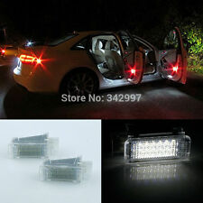 White Error Free LED Door Courtesy Lights Lamps For Audi A3 A4 A5 A6 A7 Q5 Q7 TT