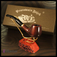 "Mr.Brog HAND MADE WOODEN SMALL SMOKING PIPE no. 17  "" City ""   Brown"