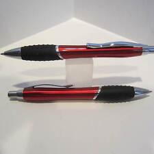 LOT of 6 TERZETTI BUMP RED Ballpoint Pen-Large Heavy Metal /Rubberized grip