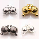 New 5/10 Sets White K/Gun Black/Silver/Gold Plated Round Magnetic Clasps 3 Size