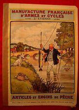 Harry ELIOTT  MANUFRANCE de 1932 Catalogue PÊCHE TRUITE MOUCHE MOULINET FISHING