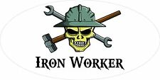 3 - Iron Worker Skull Oilfield Roughneck Hard Hat Helmet Sticker H319