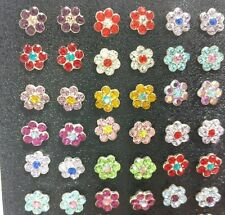 $5.40/Pair - 60 Pair, Heavy 925 Sterling Silver Daisy Flower STUD WHOLESALE LOTS