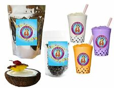 10+ Drinks Pina Colada Kit: Tea Powder, Bubbles & Straws by Buddha Bubbles Boba