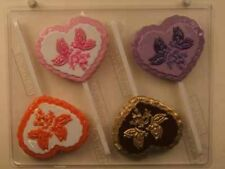 HEART WITH BUTTERFLIES BELLS LOLLIPOP CHOCOLATE CANDY MOLD BRIDAL WEDDING FAVOR