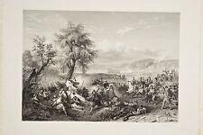 Conquête de l'Algérie, bataille Horace VERNET gravé par Paul GIRARDET V. 1850