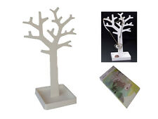 TREE STAND DISPLAY JEWELLERY RING NECKLACE CHAIN EARRING ORGANISER HOLDER WHITE