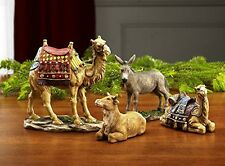 Three Kings Gifts Traditional Nativity Animal Figurines Deluxe 4 Piece Resin