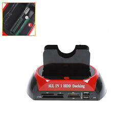 "USB 2.5"" 3.5"" IDE/SATA I II Hard Disk HDD 2-Dock Docking Station e-SATA Hub"