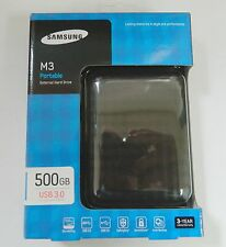 "Samsung M3 Slimline 500GB 2.5"" USB 3.0 External Portable Hard Drive HDD Balck"