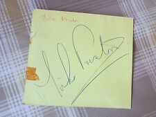 Original Mike PRESTON Hand Signed 1960's Pop Musician & Actor Autograph Page