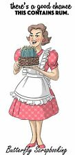VINTAGE Lady Rum Cake Set Cling Unmounted Rubber Stamp Art Impressions 4594 NEW