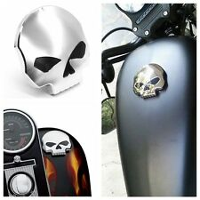 CNC Motorcycle Skull Fuel Gas Tank Cap Cover For Harley Dyna Softail Sportster