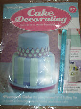Deagostini Cake Decorating Magazine ISSUE 17 WITH TEXTURED MINI ROLLING PIN