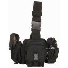 Condor - Utility Drop Leg Thigh Rig - Radio & Flashlight Pouches - Black - #MA25
