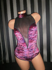 Victoria's Secret Deep V Mesh Teddy One Piece Bodysuit Vtg Gold Label M