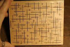 Stampin Up Rubber Stamp - Background Block - 5 x 6 inches Wood Mount S11