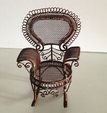Price reduced! New Miniature Dollhouse Fancy Metal Rocking Chair