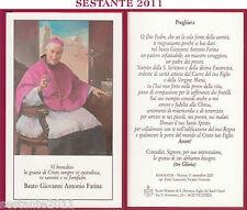 74 SANTINO HOLY CARD BEATO GIOVANNI ANTONIO FARINA