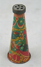 Vintage Lithographed Tin Horn Noisemaker -- Ball Room Dancing & Orchestra