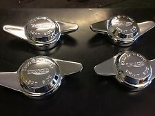 NEW TRIUMPH EMBOSSED 2 EARED KNOCK ON WIRE WHEEL SPINNER SET TR6 GT6 SPITFIRE
