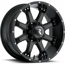 20 inch black Raceline Assault 991 wheels Ford F250 F350 Excursion 20x9 8x170 +0