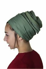 Sinar Tichel Scarves Head Wrap Hair Covering Jewish Headcovering Bandana Green