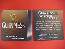 Beer Mat Coaster: Guinness Draught    The Night Is Shaping Up! ** Alive Inside