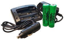Wicked Lights 2-Position Charger Kit with Two 18650 Li-Ion batteries